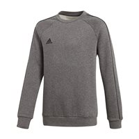 adidas Core 18 Sweat Top - Youth - Dark Grey Heather/Black