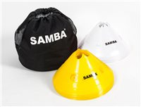 Samba Jumbo Marker Cones - Set of 20 - White/Yellow