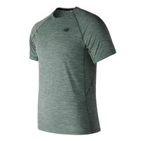ee1f701d249977 New Balance Tenacity Short Sleeve Running Tee - Mens - Forest Green