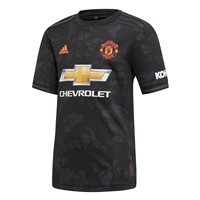 adidas Manchester United FC Official 2019/20 Third Jersey - Youth - Black