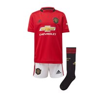 adidas Manchester United FC Official 2019/20 Home Mini Kit - Youth - Red