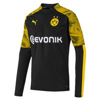 Puma Borussia Dortmund 2019/20 1/4 Zip Jacket - Adult - Puma Black/Cyber Yellow