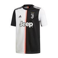 adidas Juventus FC Official 2019/20 Short Sleeve Home Jersey - Youth - Black/White