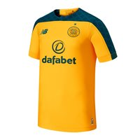 New Balance Celtic FC Official 2019/20 Short Sleeve Away Jersey - Adult - Gold/Green