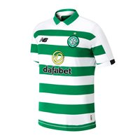 New Balance Celtic FC Official 2019/20 Short Sleeve Home Jersey - Adult - Green/White