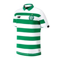 New Balance Celtic FC Official 2019/20 Short Sleeve Home Jersey - Youth - Green/White