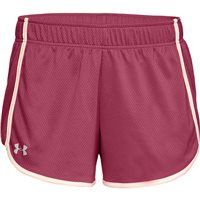 Under Armour Tech Mesh 3 Inch Shorts - Womens - Impulse Pink