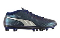 Puma One 4 Syn FG Fooball Boots - Adult - Blue/Silver/Peacoat