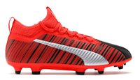 Puma One 5.3 FG/AG Football Boots - Adult - Black/Red/Silver