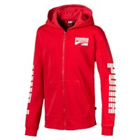 Puma Rebel Bold Hooded Fleece Jacket - Boys - High Risk Red