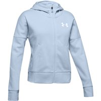 Under Armour Rival Full Zip Jacket - Girls - Moonstone Blue/White