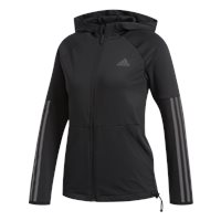 adidas 3Stripe Full Zip Hoodie - Womens - Black