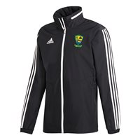 adidas Club Castletown Finea Coole Whitehall GFC Tiro 19 All Weather Jacket - Adult - Black/White