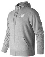 New Balance Essentials Full Zip Hoodie - Mens - Grey