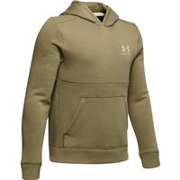 Under Armour Cotton Fleece Hoodie - Boys - Outpost Green/Butter White