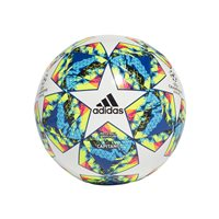 adidas Champions League Finale 19 Competition Football - White/Bright Cyan/Yellow Size 5
