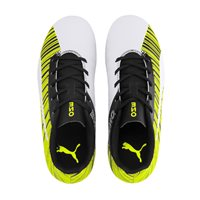 Puma One 5.4 FG/AG Football Boots - Youth - White/Black/Yellow Alert
