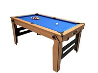 BCE 6Ft Rolling Lay Flat Pool Table With Table Tennis Top