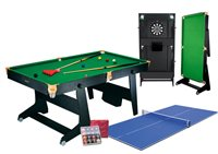 Riley 6Ft Folding Snooker Table With Table Tennis Top