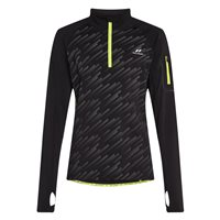 Pro Touch Renzo VI UX Running 1/4 Zip - Mens - Black/AOP/Reflective/Yellow Light