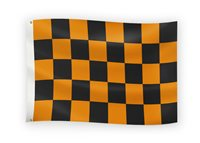 The GAA Store Black/Amber 5' x 3' Chequered Flag