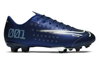 Nike CR7 Vapor 13 Academy MDS FG/MG Football Boots - Youth - Blue Void/Metallic Silver/White