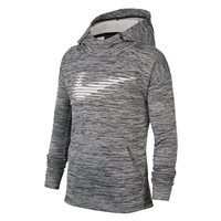Nike Therma GFX Pull Over Hoodie - Boys - Black/Heather/White