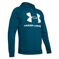 Under Armour Rival Fleece Sportstyle Logo Hoodie - Mens - Teal Vibe