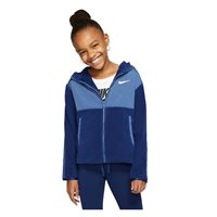 Nike Therma Full Zip Plush Hoodie - Girls - Blue Void/Mystic/Navy