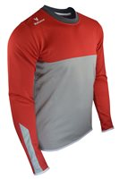 Mc Keever League 20 Sweat Top - Youth - Light Grey/Red/White/Melange