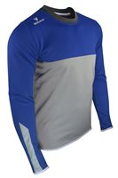 Mc Keever League 20 Sweat Top - Youth - Light Grey/Royal/White/Melange
