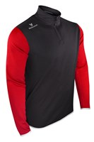 Mc Keever Pairc 20 1/4 Zip Jacket - Adult - Black/Red/Silver/Melange