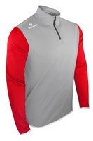Mc Keever Pairc 20 1/4 Zip Jacket - Adult - Light Grey/Red/White/Melange