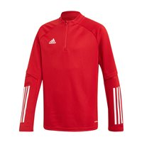 adidas Condivo 20 Training 1/4 Zip Top - Youth - Team Power Red