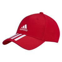 adidas 3 Stripe Cap CT - Adult - Scarlet/White/White