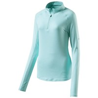 Pro Touch Cusca Long Sleeve Running 1/4 Zip Top - Womens - Melange/Blue Light