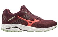 Mizuno Wave Inspire 16 Running Shoes - Womens - Mauve Wine/Cayenne/Bok Choy