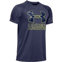 Under Armour Tech Hybrid Print Fill Logo Tee - Boys - Blue Ink/X-Ray