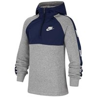 Nike Sportswear Big Kids 1/4 Zip Hoodie - Boys - Midnight Navy/Dark Grey Heather