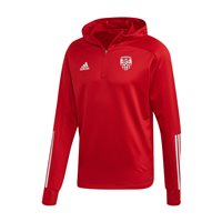 adidas Club Derry City FC Condivo 20 Track Hooded Top - Adult - Red/White