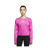 Nike Air Long Sleeve Running Top - Womens - Fire Pink/Reflective Silver