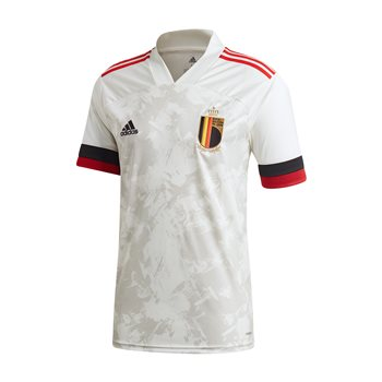 adidas Belgium UEFA Euro 2020 Official Short Sleeve Away Jersey - Adult - Off White  - Click to view a larger image