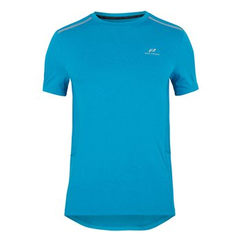 Pro Touch Aino Short Sleeve Running Tee - Mens - Melange/Blue  - Click to view a larger image