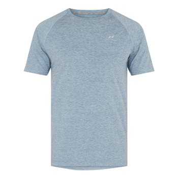 Pro Touch Rylu UX Running Tee - Mens - Melange/Blue Light  - Click to view a larger image