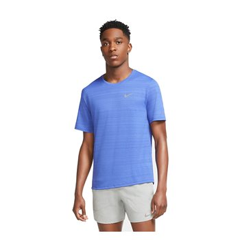 Nike Dri-Fit Miler Short Sleeve Running Tee - Mens - Astronomy Blue/Reflective  - Click to view a larger image