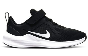 Nike Downshifter 10 Little Kids Trainers - Boys - Black/White/Anthracite  - Click to view a larger image