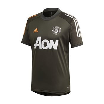 adidas Manchester United FC Official 2020/21 Training Jersey - Adult - Legend Earth  - Click to view a larger image
