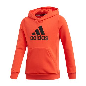 adidas MH BOS Pull Over Hoodie - Boys - Hire Red/Black  - Click to view a larger image