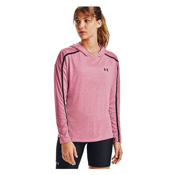 Under Armour Tech Twist Graphic Hoodie - Womens - Pink Lemonade/Black  - Click to view a larger image