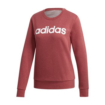 adidas Essentials Linear Sweat Top - Womens - Legend Red/White  - Click to view a larger image